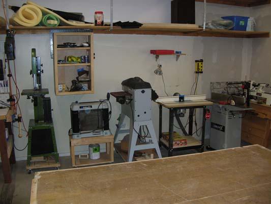 Beginner woodshop setup for Garage woodshop plans