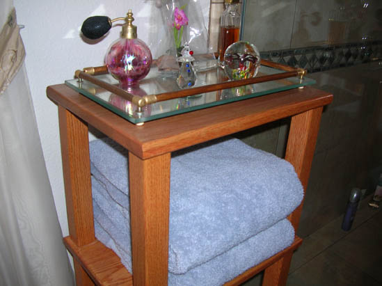 Wood Towel Stand